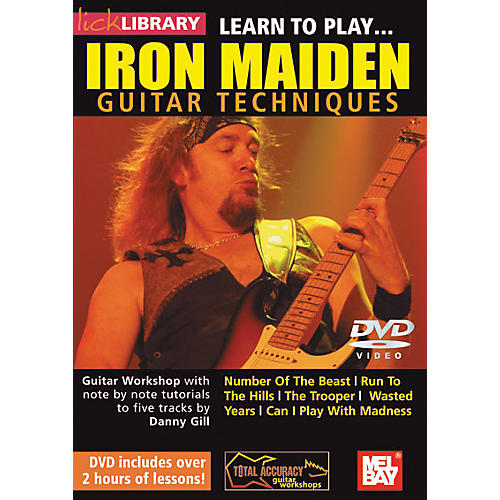 Mel Bay Lick Library Learn to Play Iron Maiden Techniques DVD