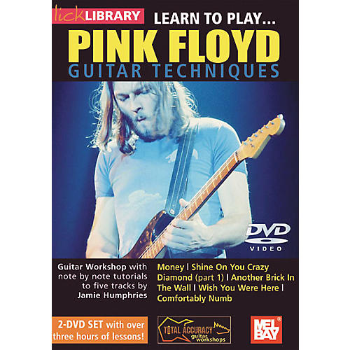 Mel Bay Lick Library Learn to Play Pink Floyd Guitar Techniques 2 DVD Set-thumbnail