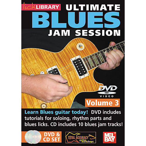 Mel Bay Lick Library Ultimate Blues Jam Session Volume 3 DVD and CD Set