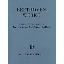 G. Henle Verlag Lieder verschiedener Völker Henle Edition Softcover by Beethoven Edited by Susanne Cox