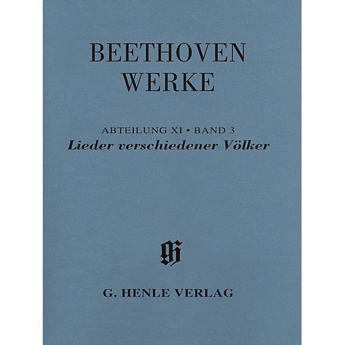 G. Henle Verlag Lieder verschiedener Völker Henle Edition Softcover by Beethoven Edited by Susanne Cox-thumbnail