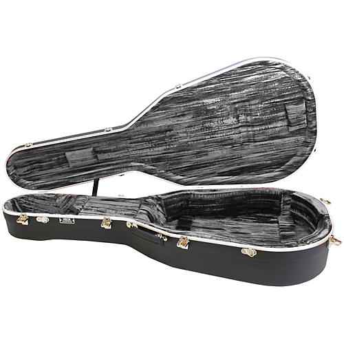 Hiscox Cases Lifelflite Artist Acoustic Guitar Case - Black Shell/Silver Interior-thumbnail