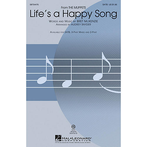 Hal Leonard Life's a Happy Song (from The Muppets) 3-Part Mixed by The Muppets Arranged by Audrey Snyder-thumbnail