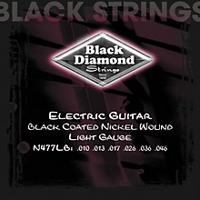 Black Diamond Light Gauge Black Coated Nickel Electric Guitar Strings