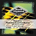 Black Diamond Light Gauge Silver-Plated Acoustic-Electric Guitar Strings  Thumbnail