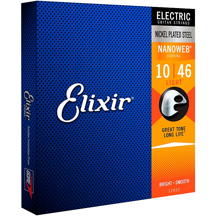 Elixir Light Nanoweb Electric Guitar Strings