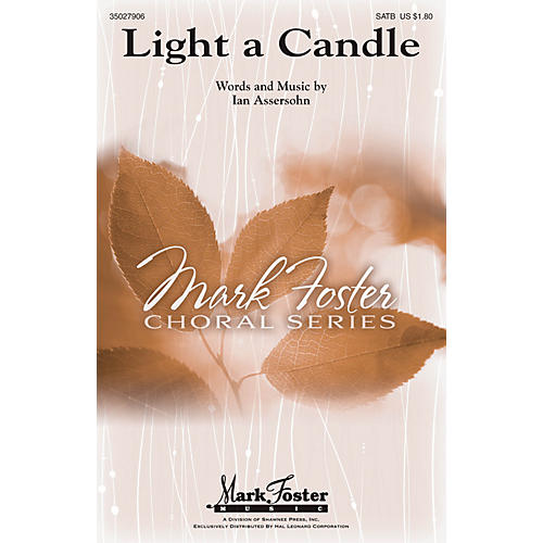 Shawnee Press Light a Candle SATB composed by Ian Assersohn-thumbnail