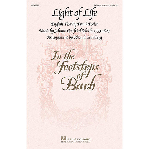 Hal Leonard Light of Life SATB arranged by Rhonda Sandberg-thumbnail