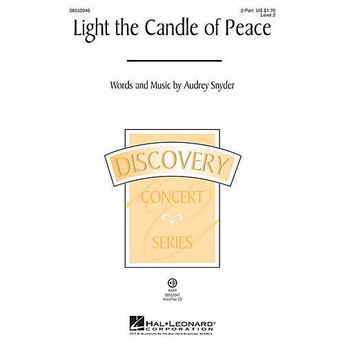Hal Leonard Light the Candle of Peace (Discovery Level 2) VoiceTrax CD Composed by Audrey Snyder
