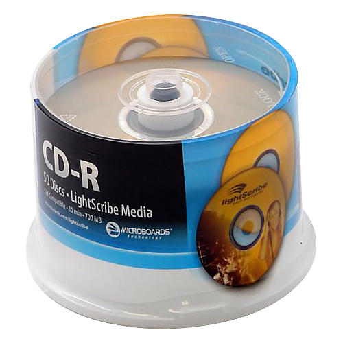 Microboards LightScribe Recordable/Printable CD-R 52X