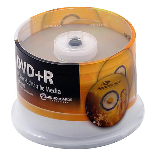 Microboards LightScribe Recordable/Printable DVD+R 16X
