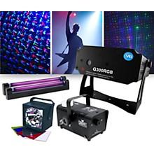 VEI Lighting Effects Package with G300RGB Laser, ADJ VBar Pak and Fog Machine