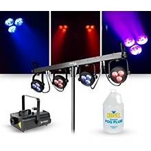 CHAUVET DJ Lighting Package with 4BAR LT USB RGB LED Effect and ADJ VF1300 Fog Machine