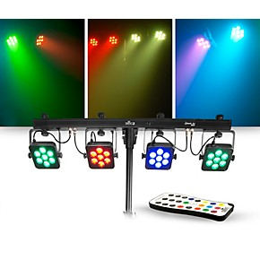 chauvet dj lighting package with 4bar tri usb rgb led fixture and irc 6 controller musician 39 s. Black Bedroom Furniture Sets. Home Design Ideas