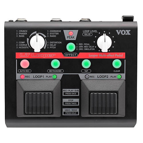 vox lil 39 looper guitar multi effects pedal musician 39 s friend. Black Bedroom Furniture Sets. Home Design Ideas