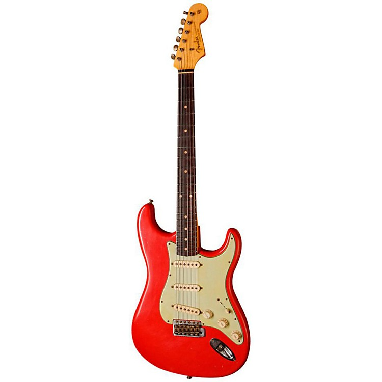Fender Custom Shop Limited-Edition 1960 Relic Stratocaster Electric Guitar Fiesta Red