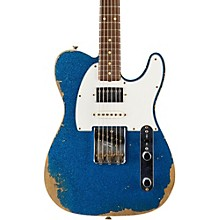 Limited Edition '60s Heavy Relic Nashville Telecaster Custom HSS Electric Guitar, Rosewood Blue Sparkle
