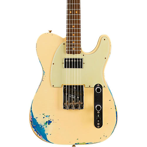 Fender Custom Shop Limited Edition '60s Telecaster HS - Aged White over Blue Flower-thumbnail