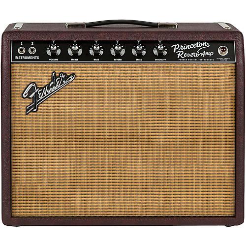 Fender Limited Edition '65 Princeton Reverb 15W 1x12 Tube Guitar Combo Amp Bordeaux Reserve-thumbnail