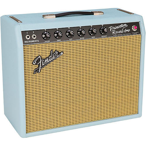 Fender Limited Edition '65 Princeton Reverb Sonic Gold 12W 1x12 Tube Guitar Combo Amplifier-thumbnail