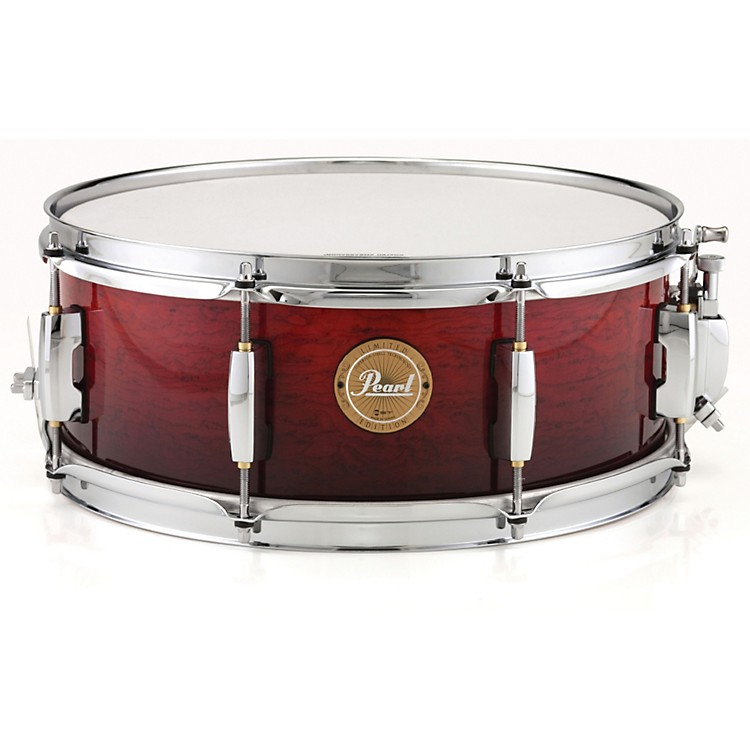 PearlLimited Edition Artisan II Lacquer Poplar/African Mahogany Snare DrumVenetian Red with Chrome Hardware14x5.5