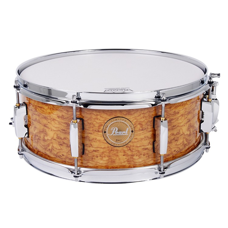 PearlLimited-Edition Artisan II Lacquer Poplar/Maple Snare DrumCappuccino with Chrome Hardware14x5.5