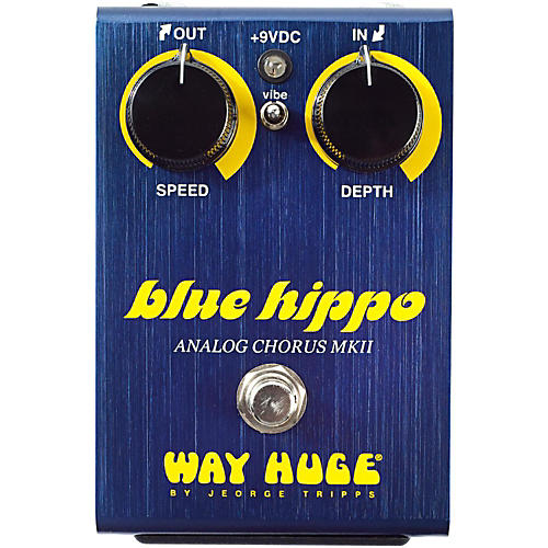 Way Huge Electronics Limited Edition Blue Hippo Analog Chorus Guitar Effects Pedal