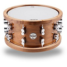 PDP by DW Limited Edition Dark Stain Walnut and Maple Snare with Walnut Hoops and Chrome Hardware