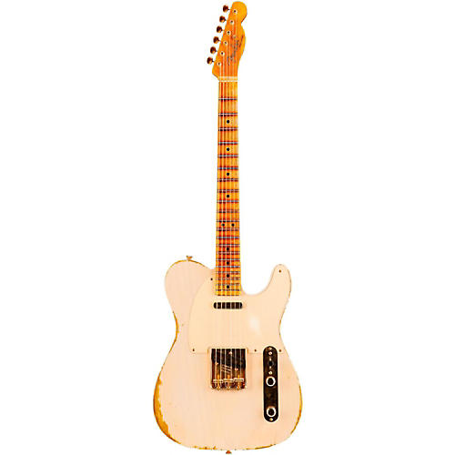 Fender Custom Shop Limited Edition Golden 1951 Heavy Relic Telecaster with Gold Hardware Dirty White Blonde Maple Fingerboard