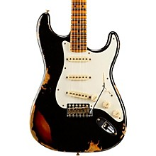 Limited Edition Heavy Relic Mischief Maker Maple Fingerboard Electric Guitar Black over 3-Color Sunburst