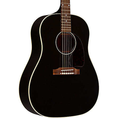 gibson limited edition j 45 ebony acoustic electric guitar musician 39 s friend. Black Bedroom Furniture Sets. Home Design Ideas