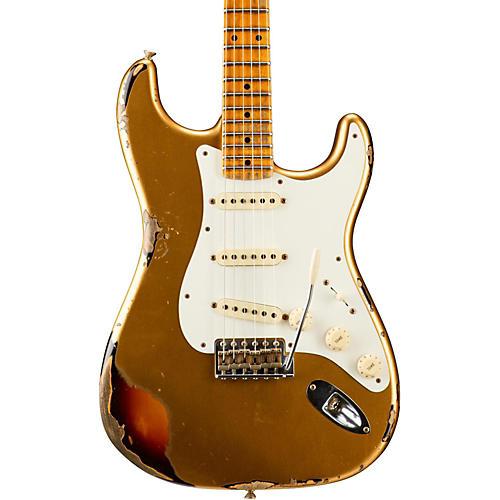 Fender Custom Shop Limited Edition Mischief Maker Heavy Relic - Aged Aztec Gold over 3-Color Sunburst