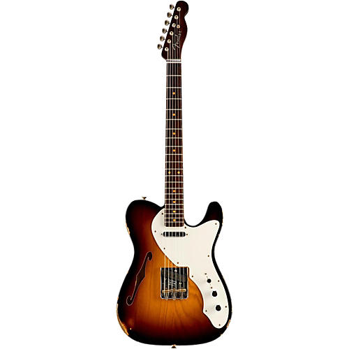 Fender Custom Shop Limited Edtion 50s Thinline Relic Telecaster Roswood Neck Wide Fade 2-Color Sunburst