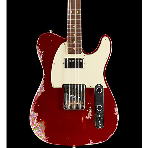 Fender Custom Shop Limited Edtion 60s H/S Relic Tele Aged Candy Apple Red over Pink Paisley
