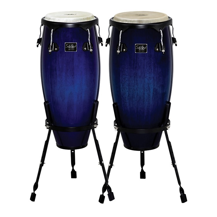 Schalloch Linea 100 Series 2-Piece Conga Set Blue Burst