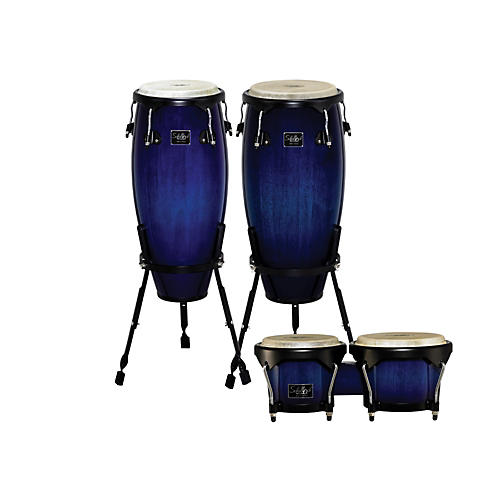 Schalloch Linea 100 Series 2-Piece Conga Set with Bongos Blue Fade