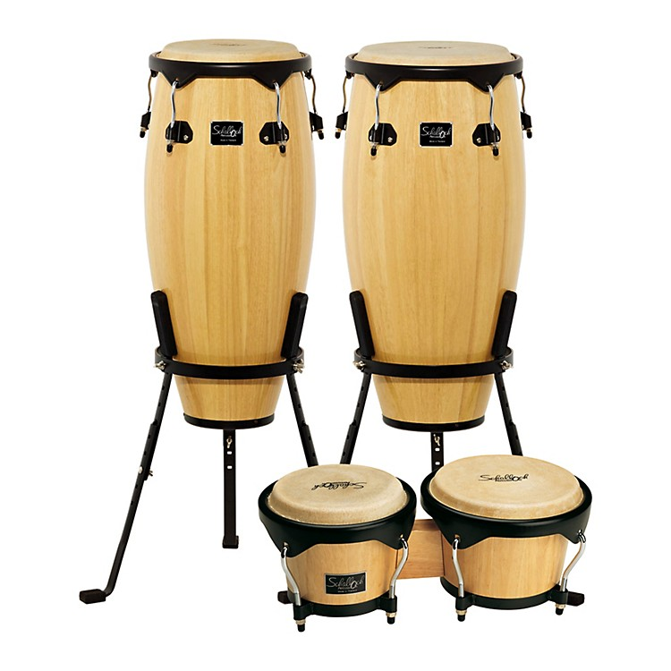Schalloch Linea 100 Series 2-Piece Conga Set with Bongos Natural