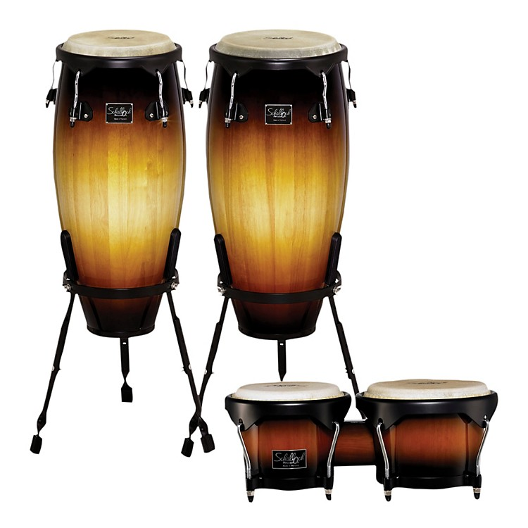 Schalloch Linea 100 Series 2-Piece Conga Set with Bongos Vintage Sunburst