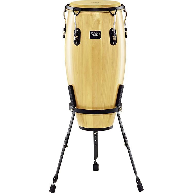 SchallochLinea 200 Conga with Basket Stand12 inch TumbaNatural