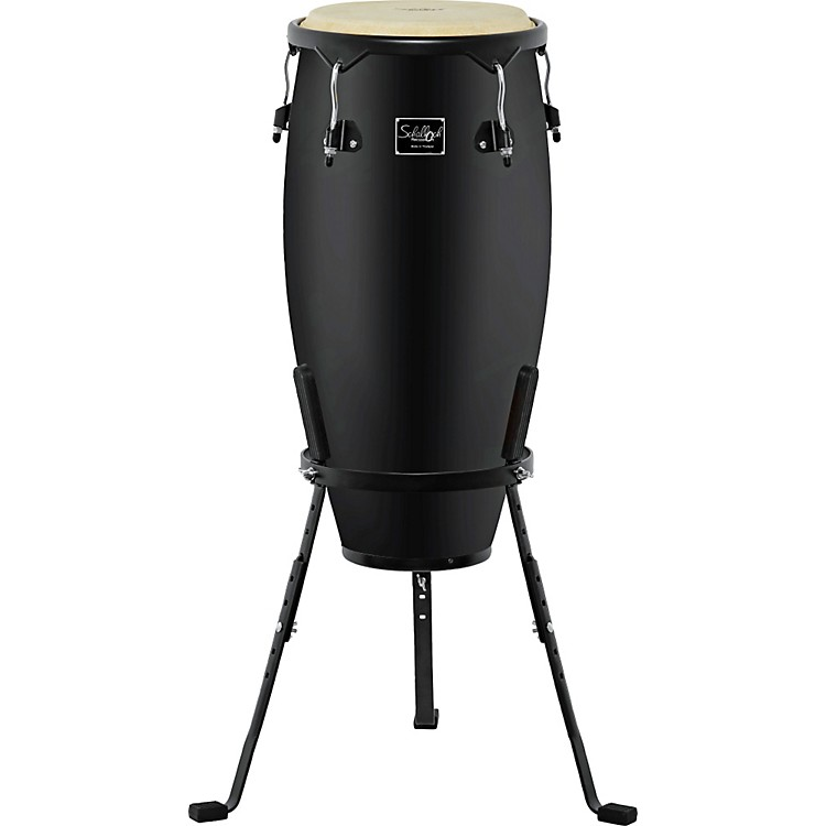 Schalloch Linea 50 Conga with Stand Black Hardware Natural 11 Inch Conga