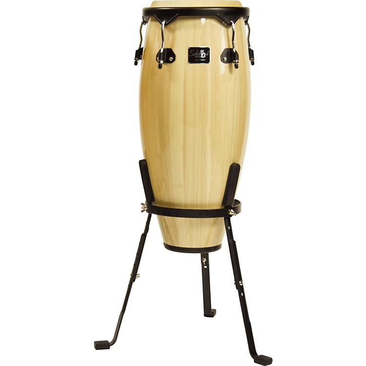 Schalloch Linea 50 Conga with Stand Black Hardware Natural 10 inch Quinto
