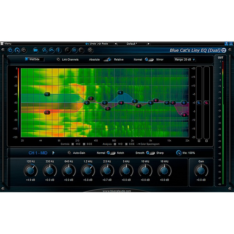 Blue Cat AudioLiny EQ Graphic EqualizerSoftware Download