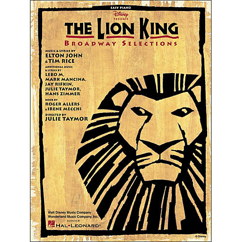 Hal Leonard Lion King Broadway Selections for Easy Piano