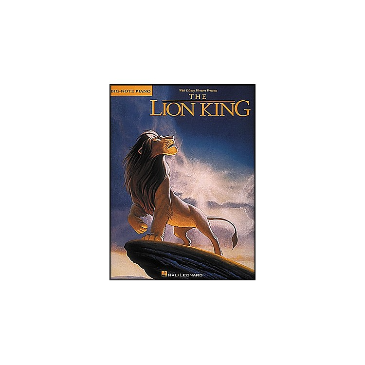 Hal Leonard Lion King for Big Note Piano