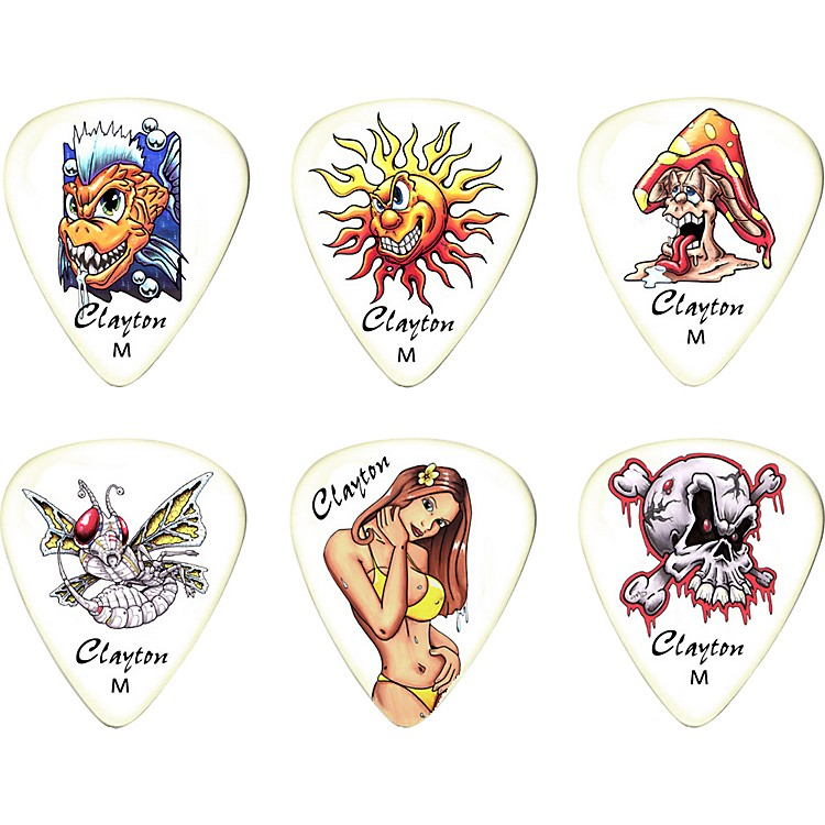 Clayton Liquid Sun Standard Guitar Picks 1 Dozen  Medium