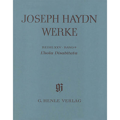 G. Henle Verlag L'isola Disabitata - Azione Teatrale HOB.XXVIII:9 Henle Complete Ed by Haydn Edited by Günter Thomas-thumbnail