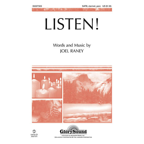Shawnee Press Listen! SATB, CLARINET & PERCUSSION composed by Joel Raney-thumbnail