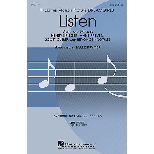 Hal Leonard Listen (from Dreamgirls) SSA Arranged by Mark Brymer-thumbnail