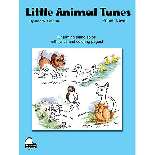 SCHAUM Little Animal Tunes (Primer Level) Educational Piano Series Softcover Composed by John W. Schaum-thumbnail
