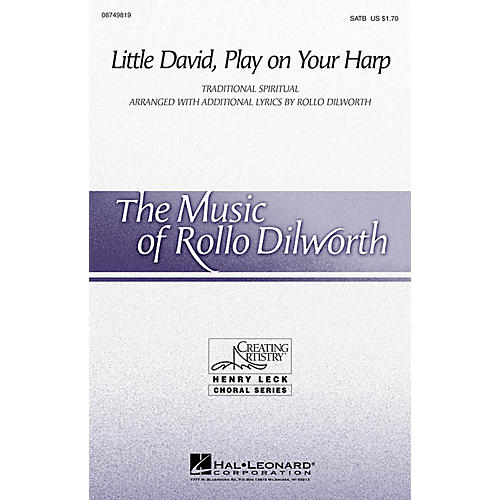 Hal Leonard Little David, Play on Your Harp SATB arranged by Rollo Dilworth